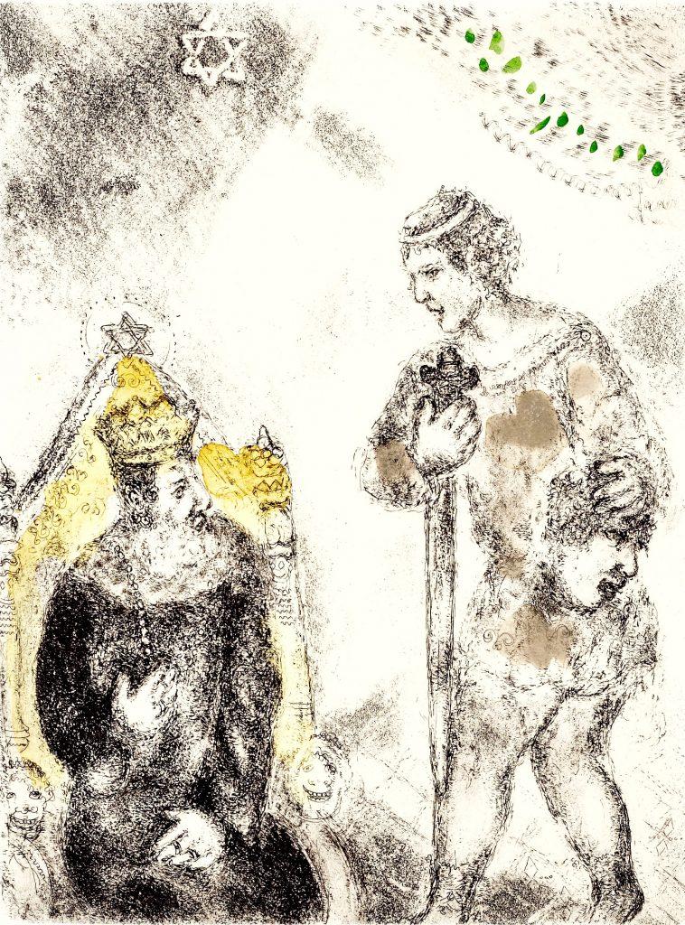 David ante Saúl con la cabeza de Goliat