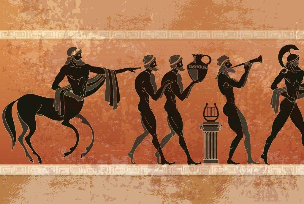 Mitología griega: Pinturas murales griegas antiguas