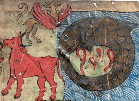 El banquete celestial, bestias y Gog-Magog